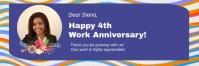 Work anniversary banner template