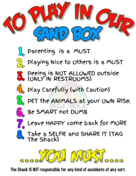 Work Area and Playground Rules