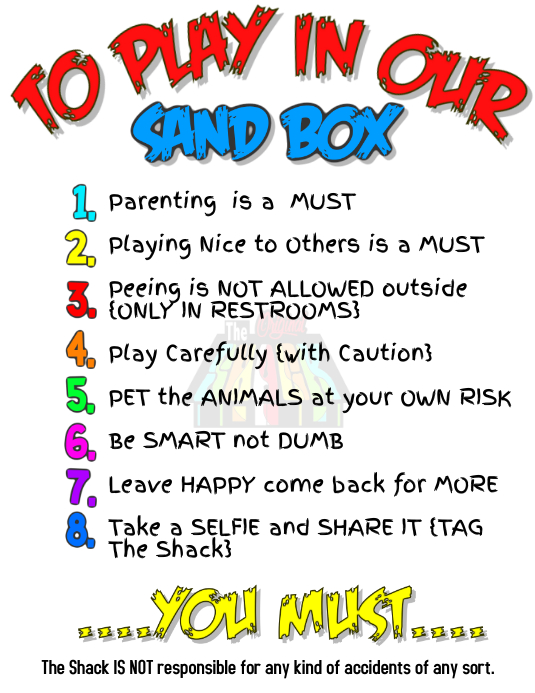 work area and playground rules template postermywall