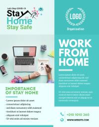 Work From Home, COVID-19 Awareness, Corona