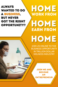 Work From Home Business Template Poster