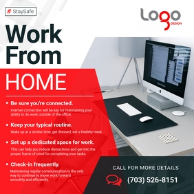 Work from Home Instructions Instagram Image