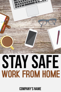 Work from Home Poster Template