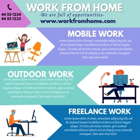 Work from Home Template Ad for Instagram