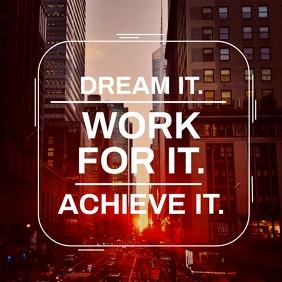 work inspirational post design template Instagram-opslag