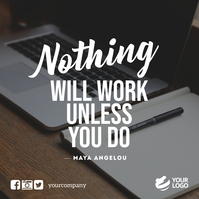 Work Motivation Quotes Instagram Facebook Wpis na Instagrama template