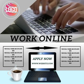 WORK ONLINE AD TEMPLATE