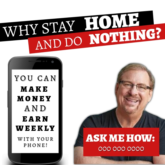 work online from home template Vierkant (1:1)