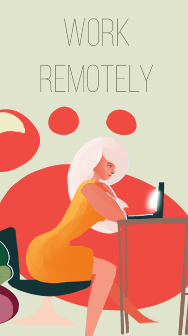 Work Remotely promotional business