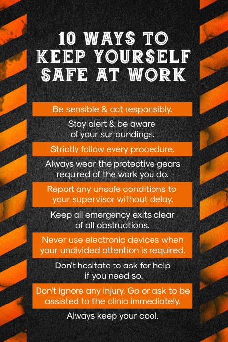 work safety template