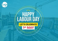 Workers day post card Cartolina template