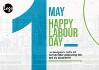 Workers day post card Открытка template