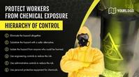 Workers Precautions Compliance Digital Signag template