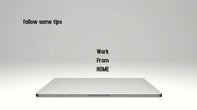 workfromhome Digital Display (16:9) template