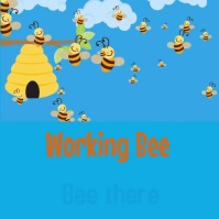 Working bee Instagram-opslag template