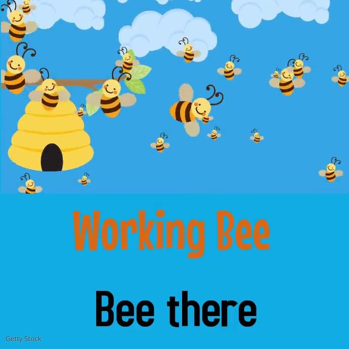 Working bee Pos Instagram template