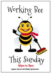 Working Bee Flyer Poster