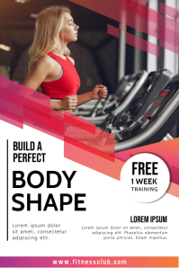 workout, online Gym classes Poster template