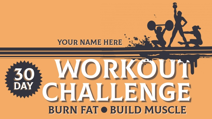 Workout Challenge YouTube Channel Cover Photo template