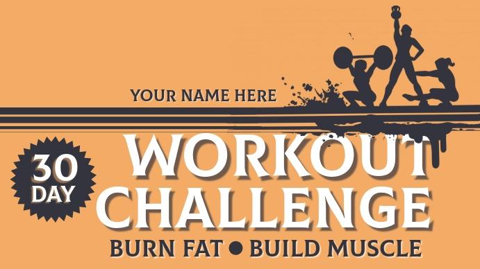 Workout Challenge Omslagfoto YouTube-kanaal template
