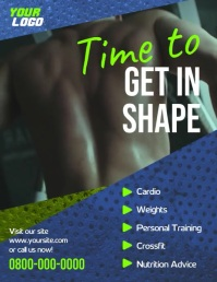 Workout gym sports video flyer Ulotka (US Letter) template