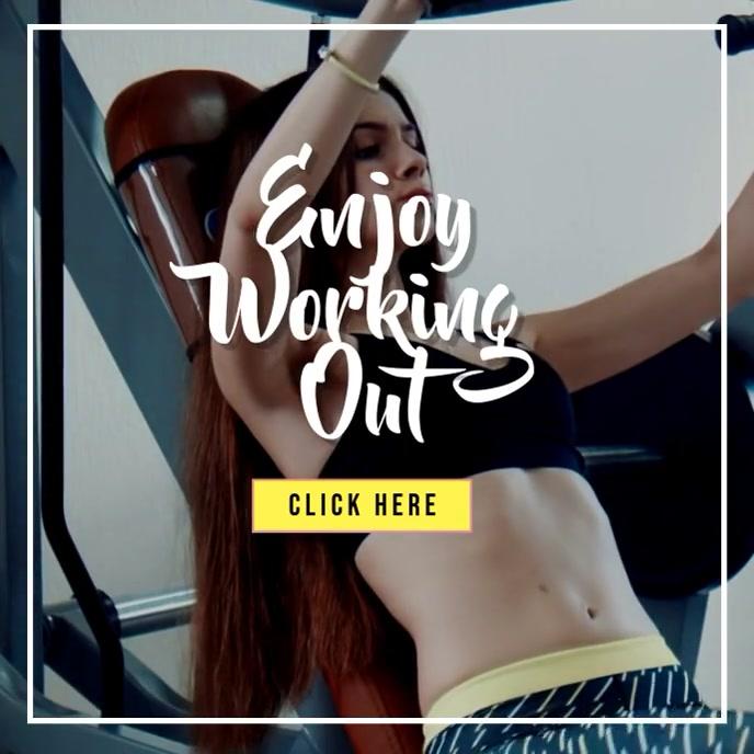 Workout video ปกอัลบั้ม template