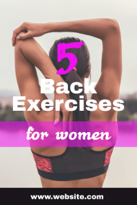Workouts for women Pinterest na Graphic template