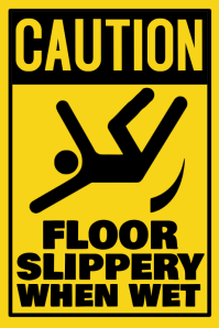 Workplace Caution Floor Wet Poster Template