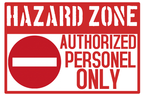 Workplace Danger Hazard Zone Poster Template