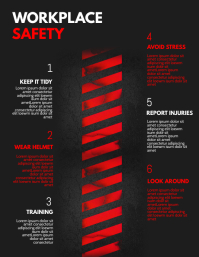 Workplace Safety Infographic Flyer Template