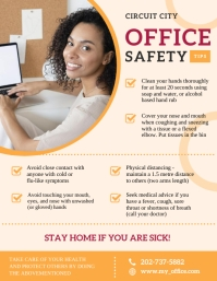 Workplace Safety Work from Home Flyer Handout template