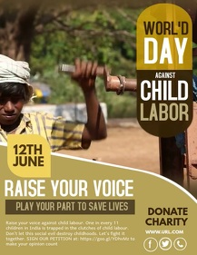 World's day against Child labor,Campaign