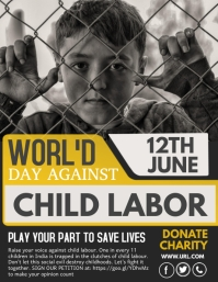 world's day against child labor,campaign fly Pamflet (VSA Brief) template