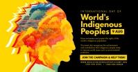 World's Indigenous Peoples Post Template Gambar Bersama Facebook