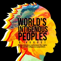 World's Indigenous Peoples Post Template