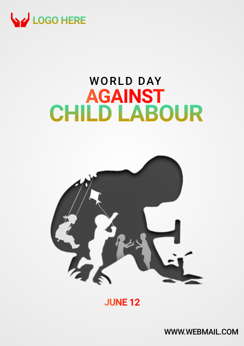 world against child labour day A4 template