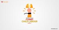 world against child labour day Isithombe Esabiwe ku-Facebook template