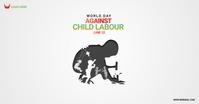 world against child labour day Imagem partilhada do Facebook template