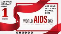 World Aids Day งานแสดงผลงานแบบดิจิทัล (16:9) template