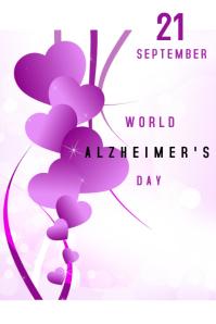 World Alzheimer's Day Affiche template