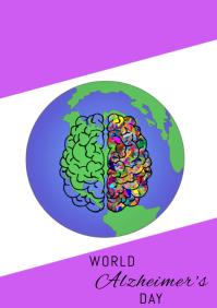 World Alzheimer's Day A4 template