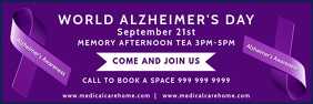 World Alzheimer's Day Offer Template แบนเนอร์ 2' × 6'