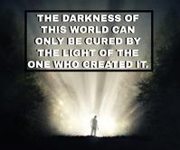 WORLD AND LIGHT QUOTE TEMPLATE Persegi Panjang Besar