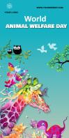 World Animal Welfare Day 3X 6 Roll Up Banner 3' × 6' template