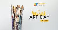 world Art day Template Imagen Compartida en Facebook