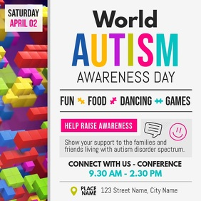World Autism Awareness Day Campaign Square Vi template