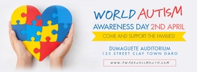 World Autism Awareness Day Facebook Cover Pho template