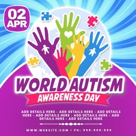 World Autism Awareness Day Poster Instagram 帖子 template