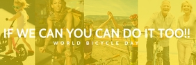 World Bicycle Day Poster Template Spanduk 2' × 6'
