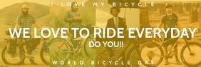 World Bicycle Day Ride Template Spanduk 2' × 6'